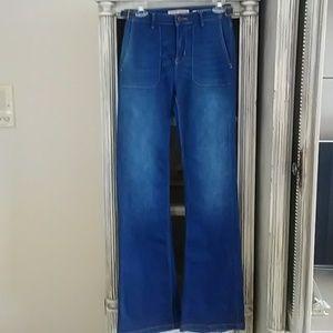 ZARA High Rise Flare Jeans